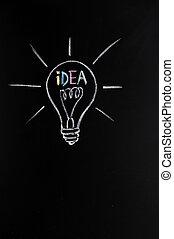 luz, bombilla, innovación