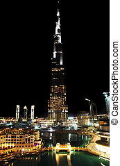 Tallest tower ever made. Dubai downtown. Burj Dubai (Burj...