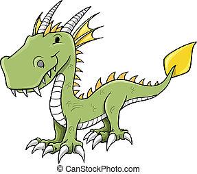 Cute Little Dragon Vector art