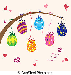 Easter eggs - A vector illustration of Easter eggs design