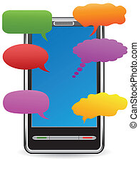 pda with speech bubbles - color speech bubbles around the...