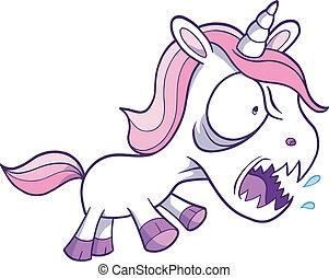 Crazy Unicorn Vector Illustration art