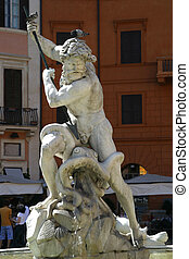 Fountain of Neptune Rome - the Fontana del Nettuno, Fountain...
