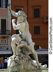 fuente, neptuno, roma