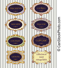 Selection of vintage labels - Selection of 7 different...