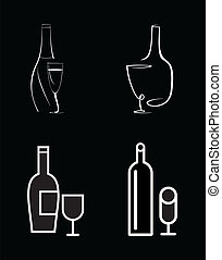 Bottle of wine and wine glass
