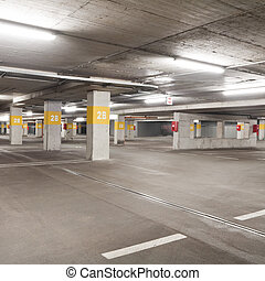 Parking - Empty underground  parking lot area