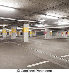 Parking - Empty underground  parking lot area