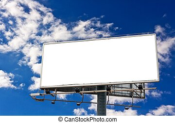 Billboard - Empty billboard in front of beautiful cloudy sky