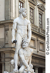 Hercules and Caco - Statue of Hercules and Caco of Baccio...