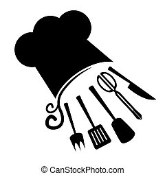 Chef art icon - Creative design of chef art icon