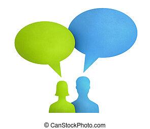 Speech Bubble Communication Concept