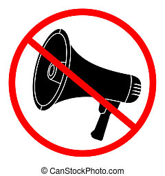 No megaphone sign - Design of no megaphone sign