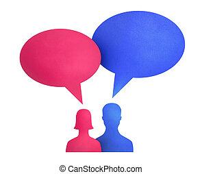 Speech Bubble Communication Concept - Concept image on...