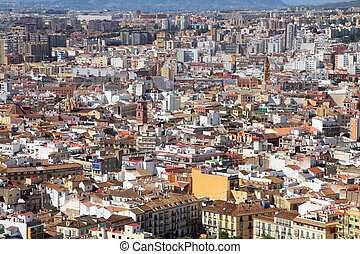 Malaga, Spain - Malaga in Andalusia, Spain. Cityscape and...
