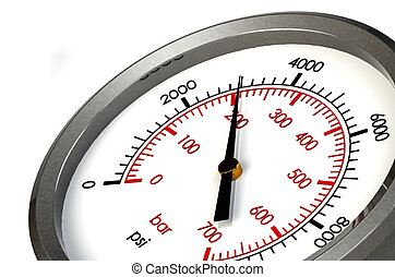 Pressure Gauge 3000 PSI - A Pressure Gauge Reading a...
