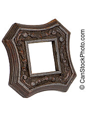 Carved wood picture frame