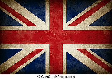 Grunge Great Britain Flag as an old vintage British symbol...