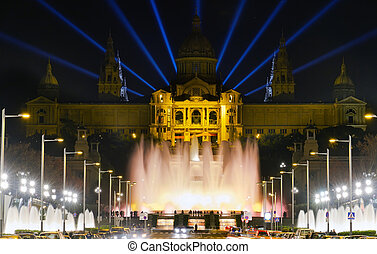 monumental fountain barcelona - Famous light show in front...