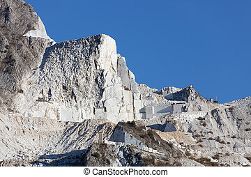 Carrara white marble mountains