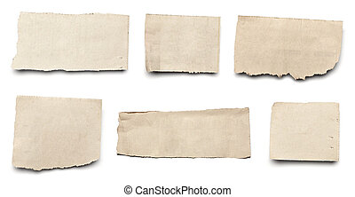 white news paper ripped message background - collection of...