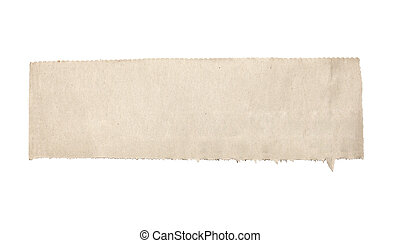 white news paper ripped message background - close up of a...