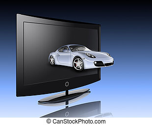 Monitor and car