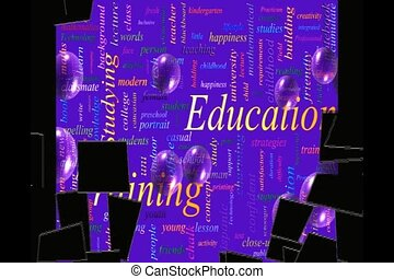word cloud video - Education Training Related Text Design...