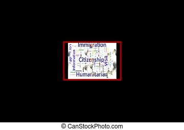 word cloud video - Immigration and Citizenship Related Text...