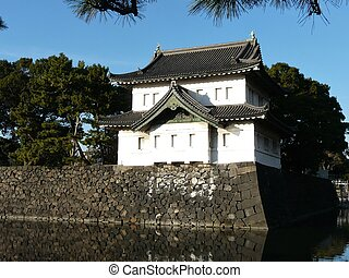 Imperial Palace in Tokyo Japan - Castle keep at the Imperial...
