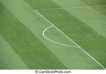 Penalty area soccer field - enalty area White stripes on the...