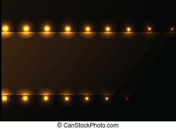 Cinema ligths background - Nice lighting frame background...