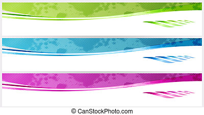 Banners - smooth banners or web site headers vector