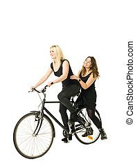 Women on bicycle
