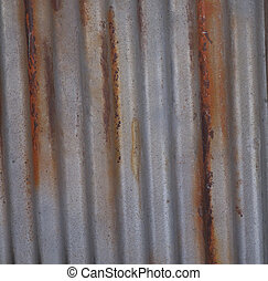 Rusty Wall - Red orange and silver rusty old wall