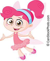 Cheerful fairy
