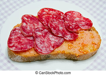 Catalan style tomato rubbed, about the scourge of rural...