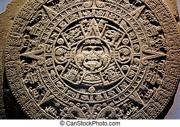 Mexico National Museum of Anthropology - Mexica sun stone or...