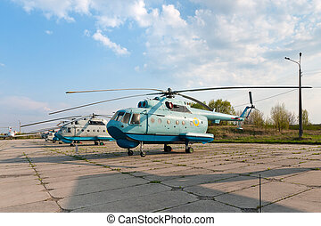 Several Mil Mi-14 helicopters - Several Mil Mi-14 transport...