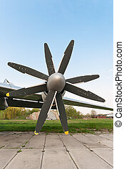 Propellers - Big counter rotating plane propellers