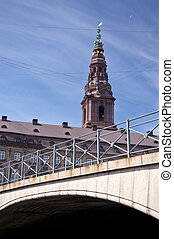 Church spire in Copenhagen