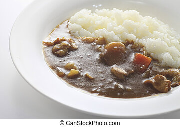curry with rice Japanese style