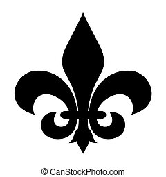 Fleur-de-lis symbol isolated on a white background