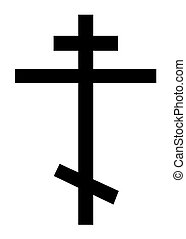 Orthodox Christian cross - Orthodox christian cross isolated...
