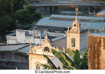 Pilar Church Aerial view