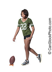 Black Woman Football Player - Beautiful black African...