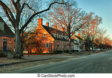 Old houses in Colonial Williamsburg