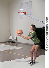 Black Woman Playing Basketball - Beautiful black African...