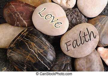 Love and Faith Stones - Peaceful rocks