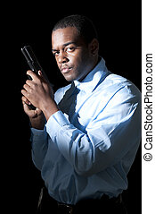 Police Detective - A black African American police detective...